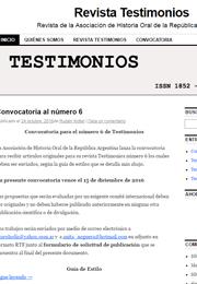 Revista Testimonios