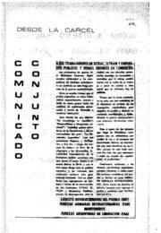 thumbnail of 1972. Comunicado conjunto desde la carcel