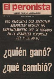 thumbnail of El Peronista Lucha por la Liberacion N 4
