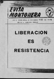thumbnail of Evita Montonera 20