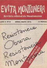 thumbnail of Evita Montonera n 13