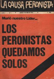thumbnail of La Causa Peronista N 1