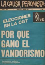 thumbnail of La Causa Peronista N 2