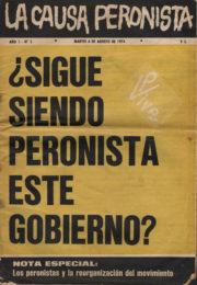 thumbnail of La Causa Peronista N 5