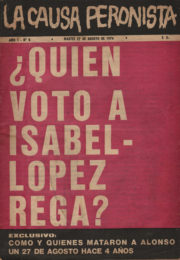 thumbnail of La Causa Peronista N 8