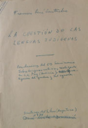 thumbnail of 1964. La cuestion de las lenguas indigenas