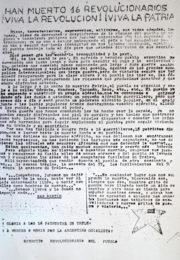 thumbnail of 1972 agosto. Han muerto 16 revolucionarios