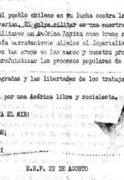 thumbnail of 1973. Solidaridad con Chile. ERP 22