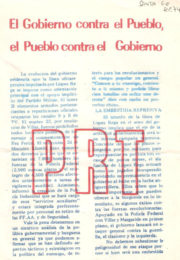 thumbnail of 1974 septiembre. El gobierno contra el Pueblo
