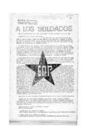 thumbnail of A los soldados