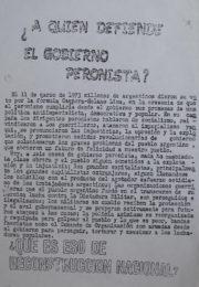 thumbnail of A quien defiende el gobierno peronista