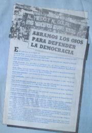 thumbnail of Abramos los ojos para defender la democracia