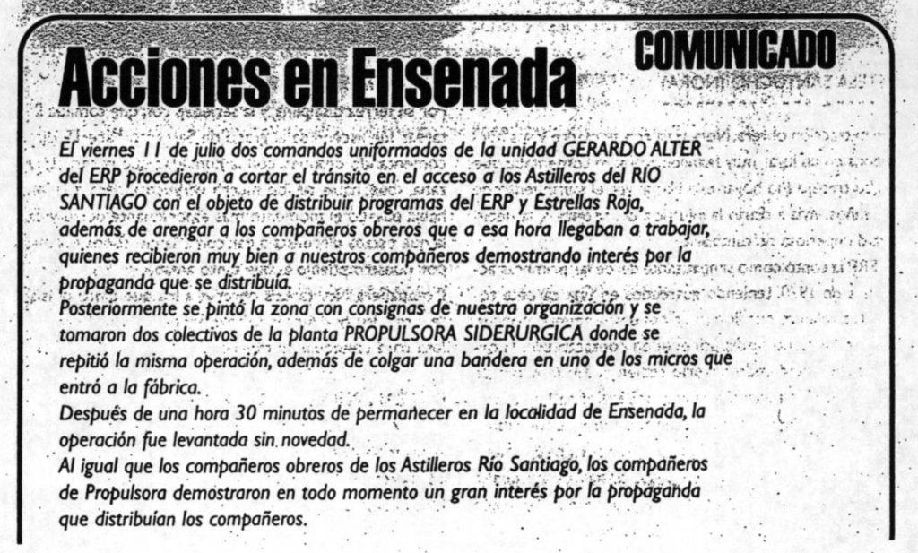 Acciones en Ensenada