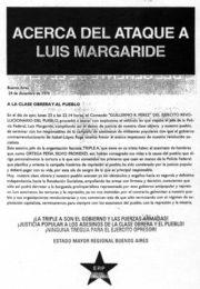 thumbnail of Acerca del ataque a Margaride
