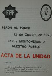 thumbnail of Acta de unidad con Montoneros