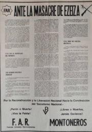 thumbnail of Ante la masacre de Ezeiza