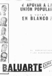 thumbnail of Baluarte Extra. El proletariado y las elecciones. c.1965
