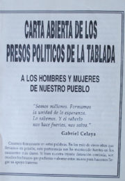 thumbnail of Carta abierta de lospresos politicos de La Tablada