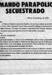 thumbnail of Comando parapolicial secuestrado