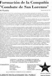 thumbnail of Compannia Combate de San Lorenzo