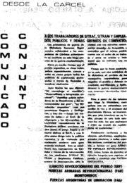 thumbnail of Comunicado conjunto desde la carcel