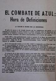thumbnail of El combate de Azul hora de definiciones