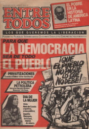 thumbnail of Entre Todos N 15. 1986 marzo 15. Buenos Aires