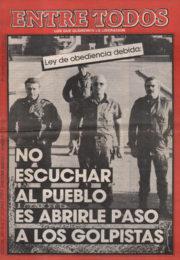 thumbnail of Entre Todos N 27. 1987 mayo 1 quincena. Cordoba