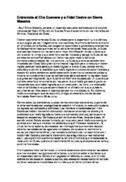 thumbnail of Entrevista al Che y Fidel