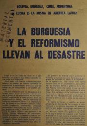thumbnail of La burguesia y el reformismo