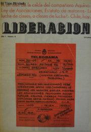 thumbnail of Liberación N° 14