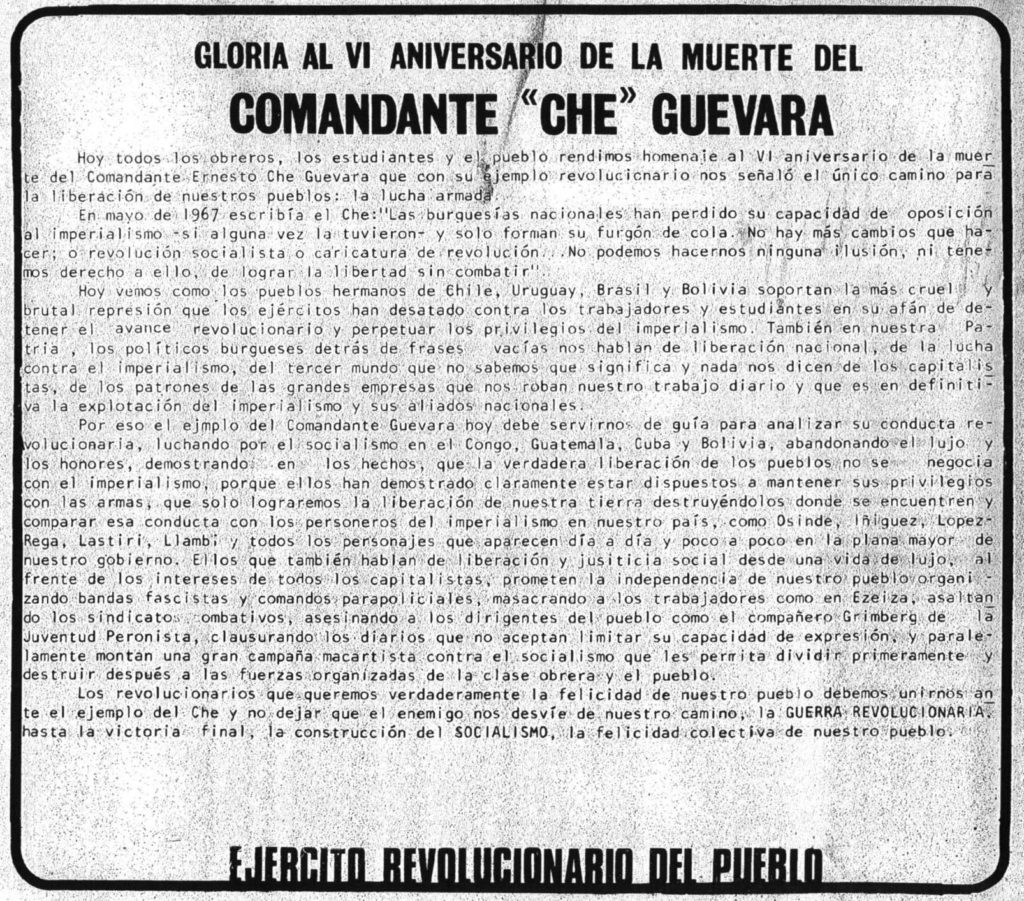 VI Aniversario Che Guevara