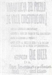 thumbnail of Viva la lucha del pueblo de Villa Constitucion