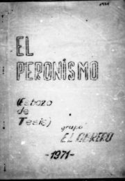thumbnail of 1971. El peronismo. Esbozo de tesis