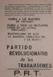 thumbnail of 1972. PRT. Primero de Mayo