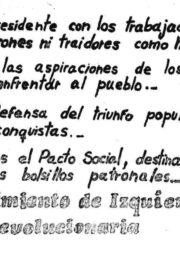 thumbnail of 1973. Peron presidente con los trabajadores. MIR