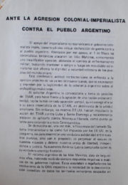 thumbnail of Ante la agresion colonial