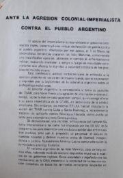 thumbnail of Ante la agresion colonial