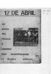 thumbnail of Boletin del PRT para los obreros de FIAT