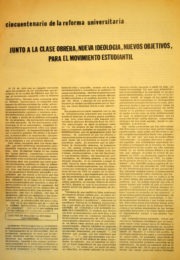 thumbnail of Cincuentenario Reforma Univeristaria