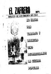 thumbnail of El zafrero N 1. Boletin de los obreros del PRT