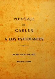 thumbnail of 1931. Mensaje de Carles a los estudiantes