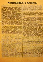 thumbnail of 1943. Neutralidad o Guerra