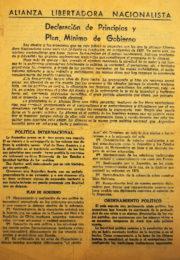 thumbnail of 1946. Declaracion de Principios y Plan de Gobierno a