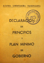 thumbnail of 1946. Declaracion de Principios y Programa de Gobierno