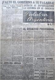 thumbnail of 1956. Palabra Argentina N 11