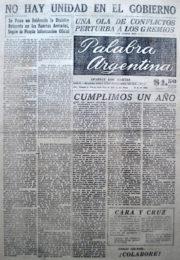 thumbnail of 1956. Palabra Argentina N 12