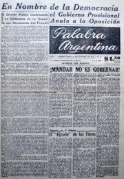 thumbnail of 1956. Palabra Argentina N 9