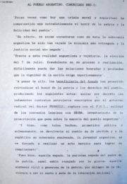 thumbnail of 1963 agosto 12. Comunicados N 1