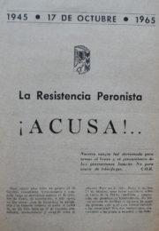 thumbnail of 1965. La Resistencia Peronista acusa